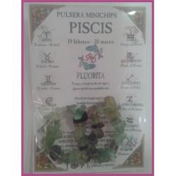 PISCIS - PULSERA minerales minichips