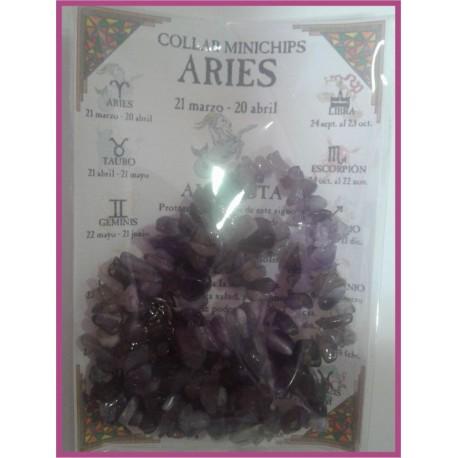 ARIES - COLLAR minerales minichips