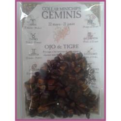 GÉMINIS - COLLAR minerales minichips