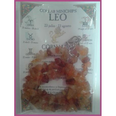 LEO - COLLAR minerales minichips