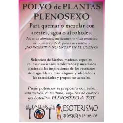 Polvos de plantas PLENOSEXO