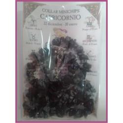 CAPRICORNIO - COLLAR minerales minichips