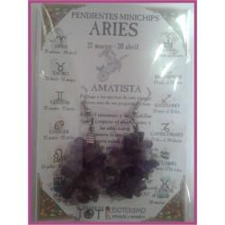 ARIES - PENDIENTES minerales minichips