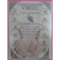 VIRGO - PENDIENTES minerales minichips
