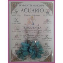 ACUARIO - PENDIENTES minerales minichips
