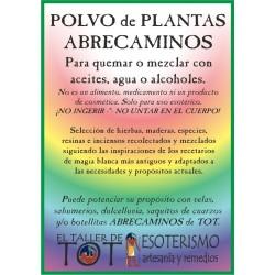 Polvos de plantas ABRECAMINOS