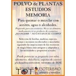 Polvos de plantas ESTUDIOS - MEMORIA