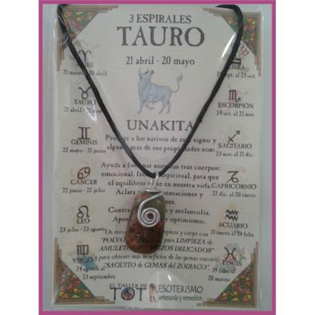 TAURO - Colgante 3 ESPIRALES
