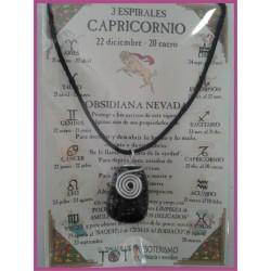 CAPRICORNIO - Colgante 3 ESPIRALES
