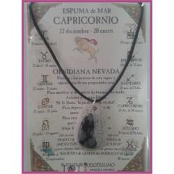 CAPRICORNIO - Colgante ESPUMA de MAR