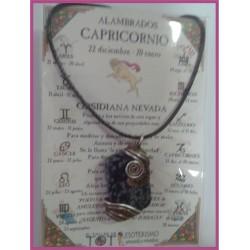CAPRICORNIO - Colgante ALAMBRADO MEDIEVAL