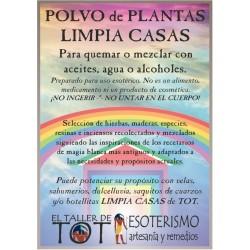 Polvos de plantas LIMPIA CASAS