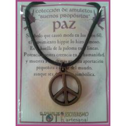 AMULETO BP - PAZ bronceada 02