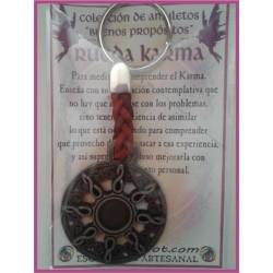 AMULETO BP - RUEDA KARMA llavero cuero 01