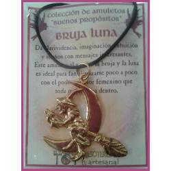 AMULETO BP - BRUJA LUNA dorada 01