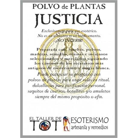 Polvos de plantas JUSTICIA