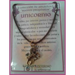 AMULETO BP - UNICORNIO plateado 01