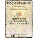 Polvos de plantas APARICIONES y ESPIRITUS