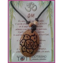 AMULETO BP - OM - FLOR hueso crema redondo 01