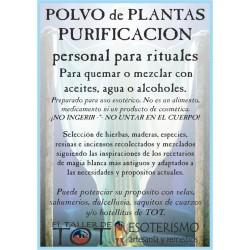 Polvos de plantas PURIFICADOR RITUAL