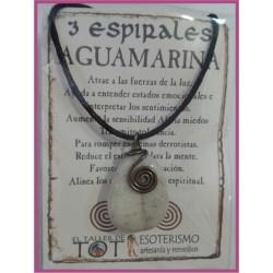 COLGANTE 3 ESPIRALES -*- AGUAMARINA