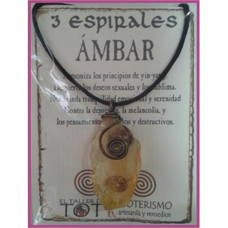 COLGANTE 3 ESPIRALES -*- AMBAR