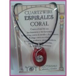 COLGANTE 3 ESPIRALES -*- CORAL