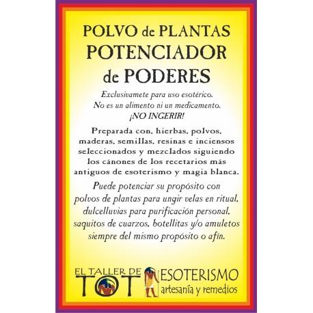 Polvos de plantas POTENCIA PODERES