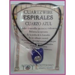 COLGANTE 3 ESPIRALES -*- CUARZO AZUL