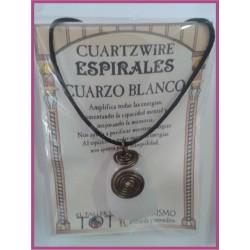 COLGANTE 3 ESPIRALES -*- CUARZO BLANCO