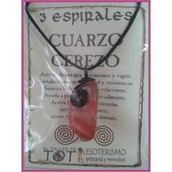 COLGANTE 3 ESPIRALES -*- CUARZO CEREZO