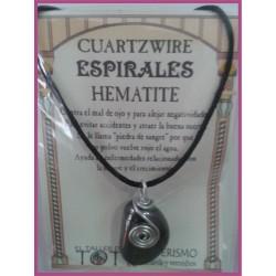 COLGANTE 3 ESPIRALES -*- HEMATITE