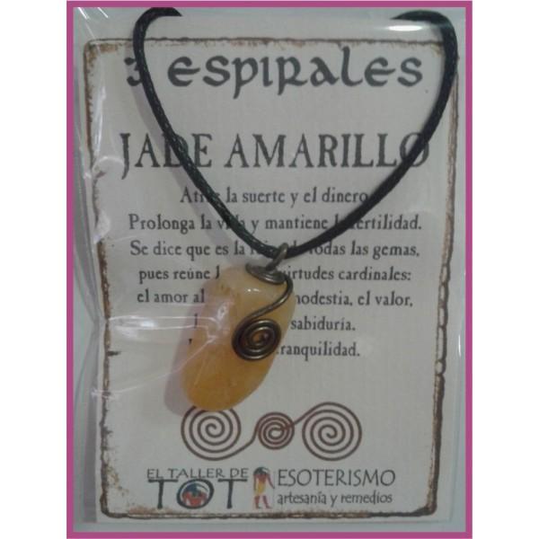 COLGANTE 3 ESPIRALES -*- JADE AMARILLO