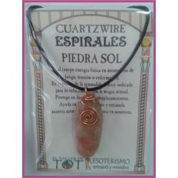 COLGANTE 3 ESPIRALES -*- PIEDRA SOL