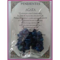 PENDIENTES chips -*- AGATA AZUL