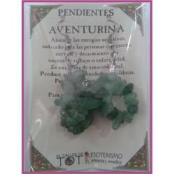 PENDIENTES chips -*- AVENTURINA VERDE