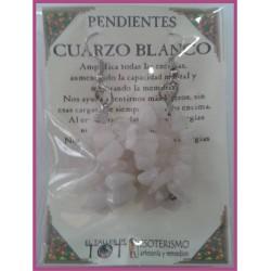 PENDIENTES chips -*- CUARZO BLANCO
