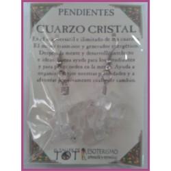 PENDIENTES chips -*- CUARZO CRISTAL