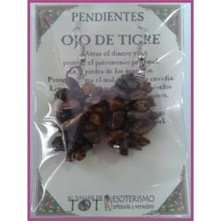 PENDIENTES chips -*- OJO DE TIGRE