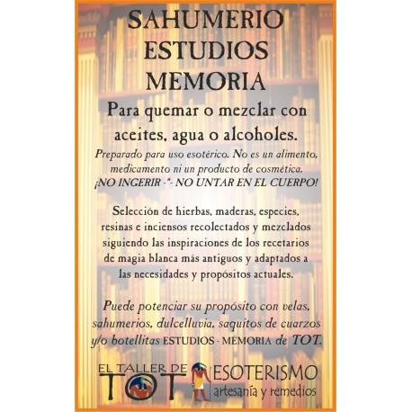 SAHUMERIO -*- ESTUDIOS - MEMORIA