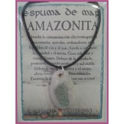 COLGANTE ESPUMA de MAR -*- AMAZONITA