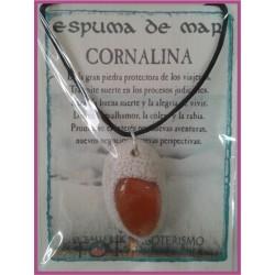 COLGANTE ESPUMA de MAR -*- CORNALINA