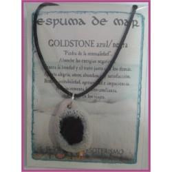 COLGANTE ESPUMA de MAR -*- GOLDSTONE AZUL/NEGRA