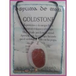 COLGANTE ESPUMA de MAR -*- GOLDSTONE DORADA