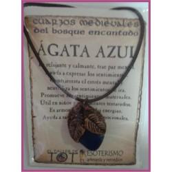 COLGANTE MEDIEVAL -*- AGATA AZUL
