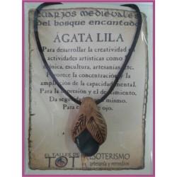 COLGANTE MEDIEVAL -*- AGATA LILA