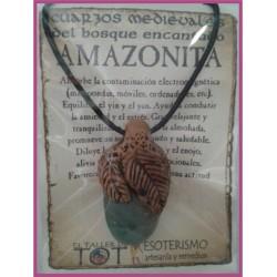 COLGANTE MEDIEVAL -*- AMAZONITA