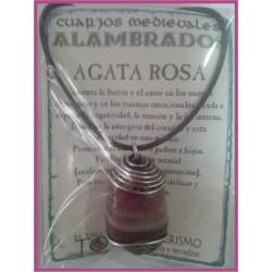 COLGANTE MEDIEVAL ALAMBRADO -*- AGATA ROSA
