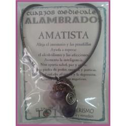 COLGANTE MEDIEVAL ALAMBRADO -*- AMATISTA