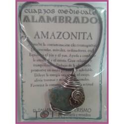 COLGANTE MEDIEVAL ALAMBRADO -*- AMAZONITA